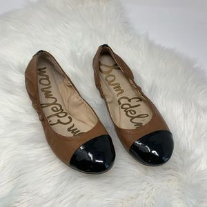 Sam Edelman Ballet Flats. Black and Brown